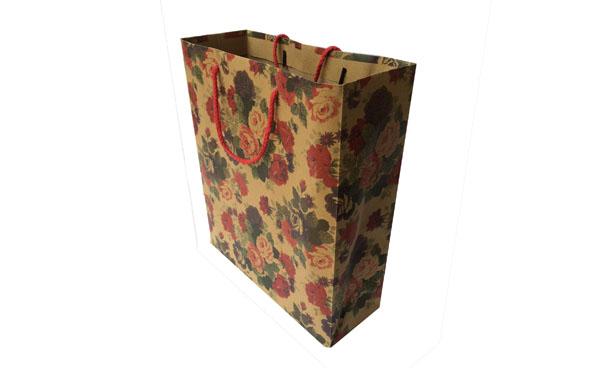 Kraft paper shopping bag with CMYK printing